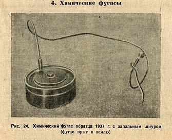 Химический фугас образца 1937 года с запальным шнуром