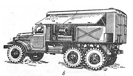 СИЛОВАЯ МАШИНА (вид слева) предназначается для обеспечения АГВ-3В паром и горячим воздухом