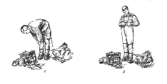 """По команде """"Защитную одежду надеть. Газы!"""" необходимо положить оружие, снять стальной шлем"""