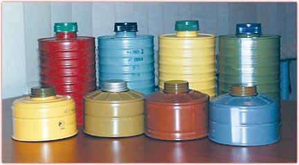 Коробки к промышленным противогазам