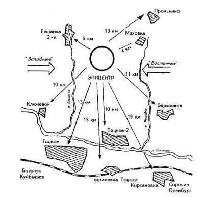 карта атомного взрыва